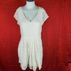 Heart Soul Casual Cream Dress Women's Size…
